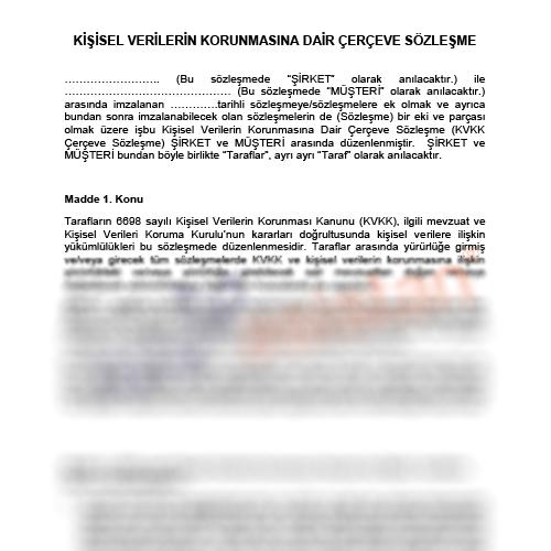 Örnek KVKK Müşteri Çerçeve Sözleşme